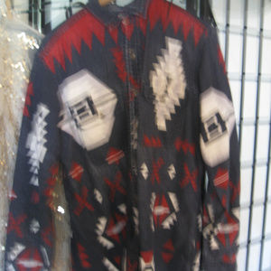 POLO by RALPH LAUREN USED  BLACK INDIAN DESIGN LG